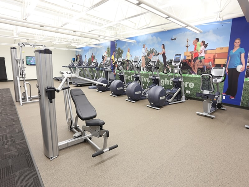 On-Site Fitness Center at Industrial Firm